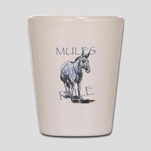 Mules Rule Shot Glass