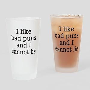 I Like Bad Puns Drinking Glass