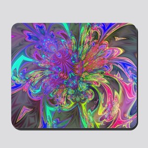 Glowing Burst of Color Mousepad