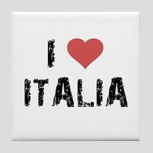 I Love Italia Tile Coaster
