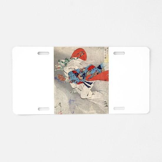 Ibaraki - Yoshitoshi Taiso - 1880 - woodcut Alumin