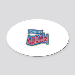 The Incredible Abram Oval Car Magnet
