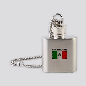 Custom Mexico Flag Flask Necklace