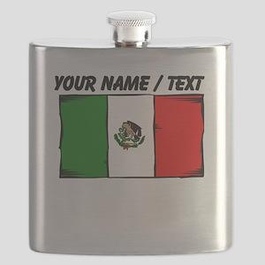 Custom Mexico Flag Flask