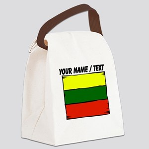 Custom Lithuania Flag Canvas Lunch Bag