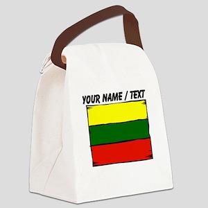 Custom Lithuania Flag Canvas Lunch Bag