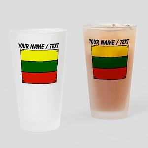 Custom Lithuania Flag Drinking Glass