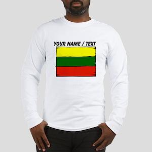 Custom Lithuania Flag Long Sleeve T-Shirt