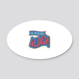 The Incredible Alden Oval Car Magnet