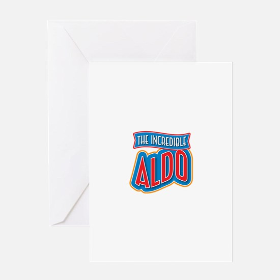 The Incredible Aldo Greeting Card