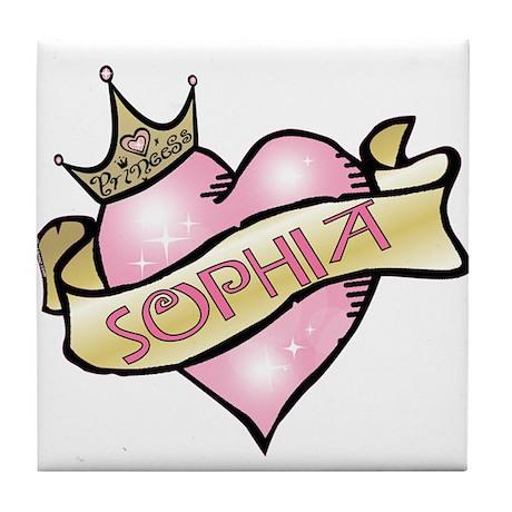 Sweetheart Sophia Custom Princess Tile Coaster
