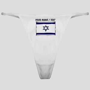 Custom Israel Flag Classic Thong