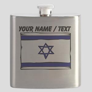 Custom Israel Flag Flask