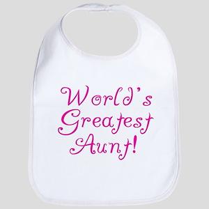 World's Greatest Aunt! Bib