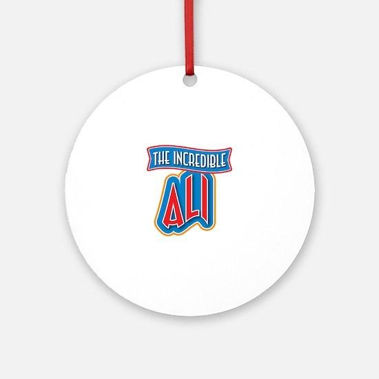 The Incredible Ali Ornament (Round)