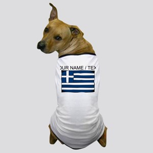 Custom Greece Flag Dog T-Shirt