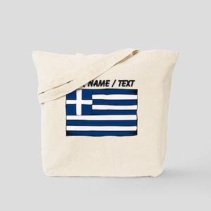 Custom Greece Flag Tote Bag
