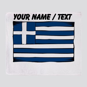 Custom Greece Flag Throw Blanket