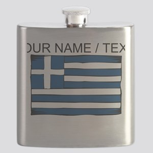 Custom Greece Flag Flask