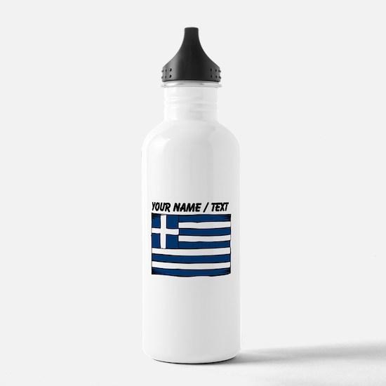 Custom Greece Flag Water Bottle