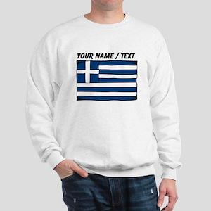 Custom Greece Flag Sweatshirt