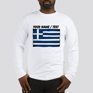 Custom Greece Flag Long Sleeve T-Shirt