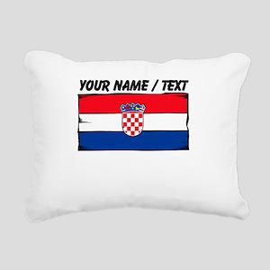 Custom Croatia Flag Rectangular Canvas Pillow