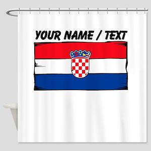 Custom Croatia Flag Shower Curtain