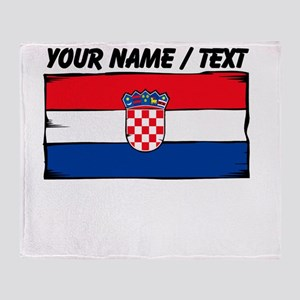 Custom Croatia Flag Throw Blanket