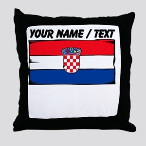 Custom Croatia Flag Throw Pillow