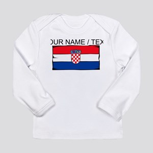 Custom Croatia Flag Long Sleeve T-Shirt