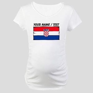 Custom Croatia Flag Maternity T-Shirt