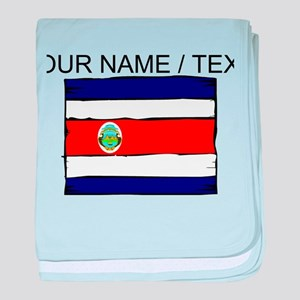 Custom Costa Rica Flag baby blanket