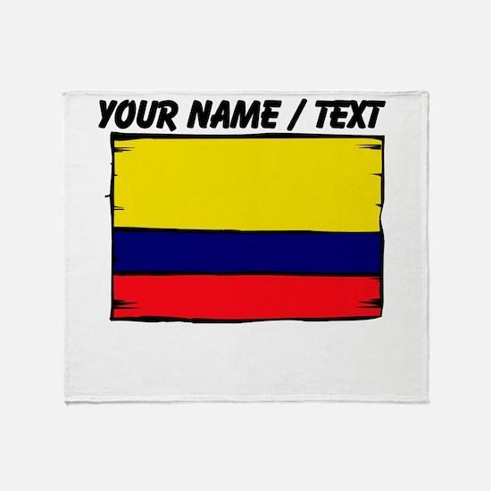 Custom Colombia Flag Throw Blanket