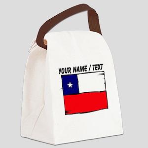 Custom Chile Flag Canvas Lunch Bag