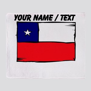 Custom Chile Flag Throw Blanket