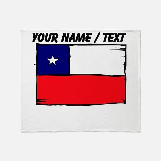 Custom Chile Flag Throw Blanket