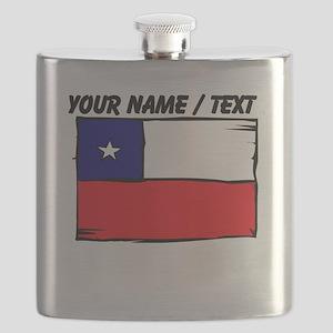 Custom Chile Flag Flask