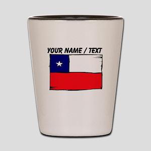 Custom Chile Flag Shot Glass