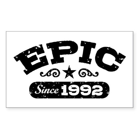 Epic Since 1992 Sticker (Rectangle)