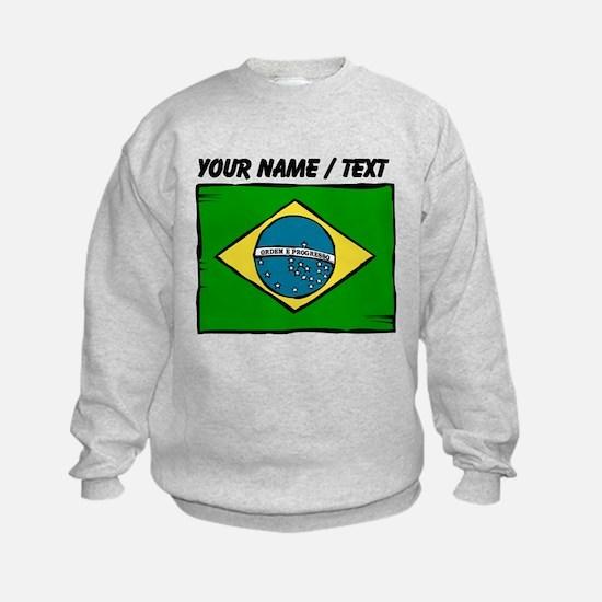 Custom Brazil Flag Sweatshirt
