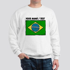 Custom Brazil Flag Sweatshirt