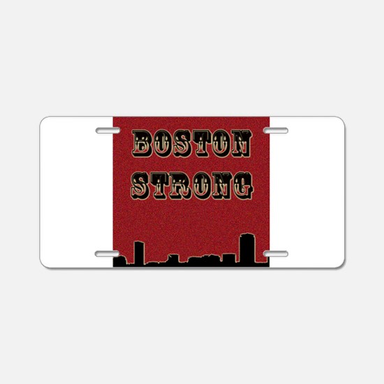 Boston Strong Aluminum License Plate