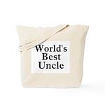 World's Best Uncle! Black Tote Bag