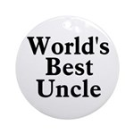 World's Best Uncle! Black Ornament (Round)