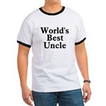 World's Best Uncle! Black Ringer T