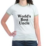 World's Best Uncle! Black Jr. Ringer T-Shirt