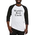 World's Best Uncle! Black Baseball Jersey