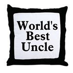 World's Best Uncle! Black Throw Pillow
