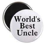 World's Best Uncle! Black Magnet